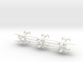 1/400 C-2A Greyhound (x6) in White Natural Versatile Plastic
