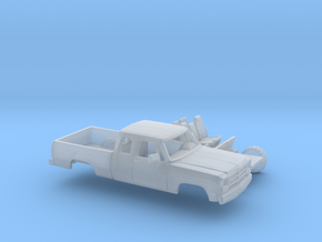 1/87 1988-91 Dodge Ram ExtCab Short Bed Kit in Smooth Fine Detail Plastic