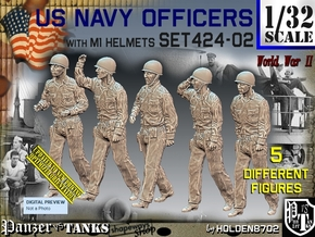 1/32 USN Officers Set424-02 in Smooth Fine Detail Plastic