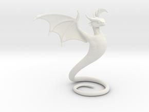 Desk Dragon in White Premium Versatile Plastic