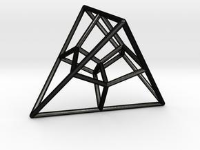 Tetrahedral Tesseract in Matte Black Steel