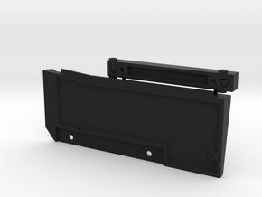 Left Side K5 Blazer Mount Set SCX10ii in Black Natural Versatile Plastic