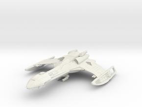Klingon Cartar Class  HvyCruiser in White Natural Versatile Plastic