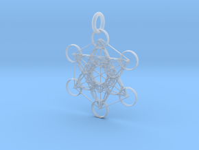 Metatron Sacred Geometry in Smoothest Fine Detail Plastic: Extra Small