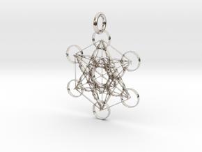 Metatron Sacred Geometry in Platinum: Extra Small