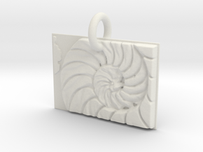 Shell Sacred Geometry in White Natural Versatile Plastic: Extra Small