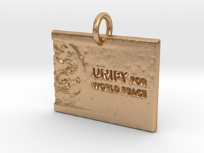 Unify For World Peace in Natural Bronze: d3