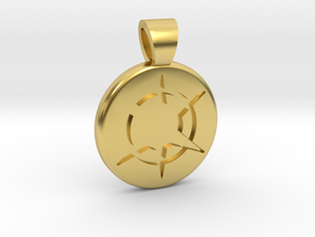 Star Realms [pendant] in Polished Brass