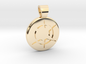 Star Realms [pendant] in 14k Gold Plated Brass