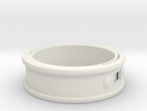 NFC Band size 14.5 US (74 mm circumference) in White Premium Versatile Plastic