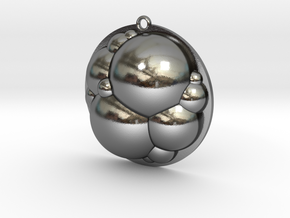Bubbles Pendant in Polished Silver