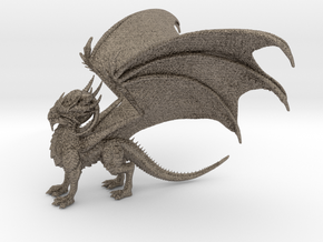 Dragon in Matte Bronzed-Silver Steel