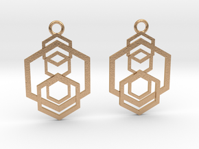 Geometrical earrings no.5 in Natural Bronze: Small