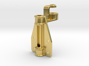 "D&RG Upper Brake Mast Bracket - 2.5"" scale in Polished Brass"