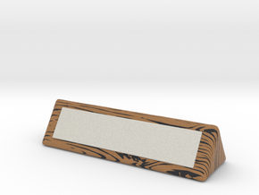 wood grain name plate for desk in Full Color Sandstone