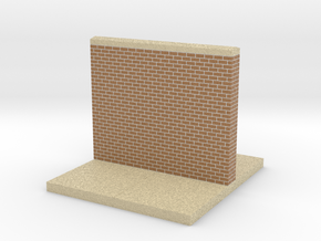 mini display base wall with sidewalk medium in Full Color Sandstone