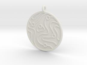 Geology Symbol in White Natural Versatile Plastic