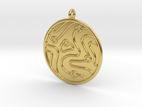 Geology Symbol in Polished Brass