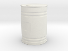 Barrel in White Natural Versatile Plastic