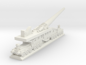340mm/45 Modèle 1912 Railroad Gun (France) in White Natural Versatile Plastic