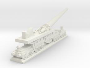 340mm/45 Modèle 1912 Railroad Gun (France) in White Premium Versatile Plastic