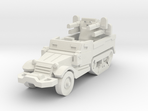 M16 quadruple gun carrier in White Natural Versatile Plastic