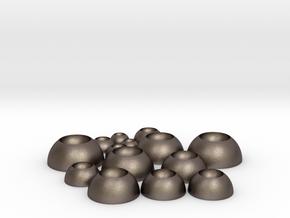BJD Eye Bases  in Polished Bronzed-Silver Steel