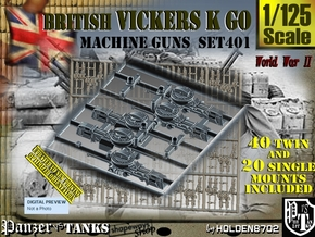 1/125 Vickers K GO Set401 in Smoothest Fine Detail Plastic