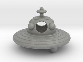 UFO hollow body 8cm diameter in Gray PA12
