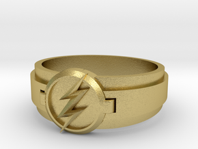 Flash Ring Size 8 in Natural Brass