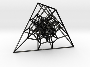 Tetrahedral 120-Cell in Matte Black Steel