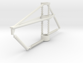 PRR 2 phase bracket CURVE in White Natural Versatile Plastic