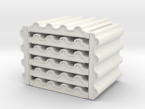 3 x 3 Corrugated Metal Set in White Natural Versatile Plastic