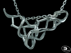tRNA Pendant in Polished Silver