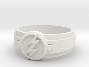 Flash Ring Size 8 in White Natural Versatile Plastic