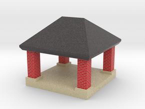 mini gazebo shelter structure in Full Color Sandstone: 1:220 - Z