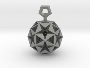 Pentagram Pendant in Gray PA12