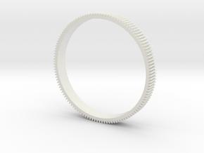 FOCUSRING86 in White Natural Versatile Plastic