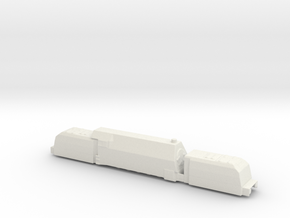 panzerzug 64 1/160 panzerlok armoured train  in White Natural Versatile Plastic