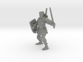 1-87 medieval knight in Gray PA12