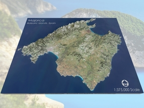 "Majorca / Mallorca Map, Spain: 8.5""x11"" in Matte Full Color Sandstone"