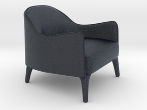 Miniature Poline Lounge Chair - Artefacto in Black PA12: 1:12