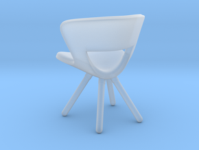 Miniature Mundo Lounge Chair - Fredericia in Smooth Fine Detail Plastic: 1:12