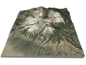 "Blanca Peak Map: 6""x6"" in Matte Full Color Sandstone"