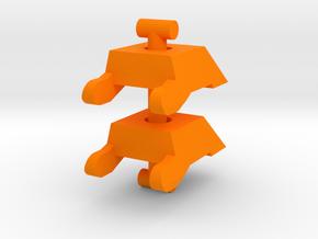 Lobros Spats in Orange Processed Versatile Plastic