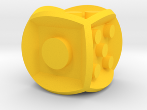 die inverse balanced rounded edges in Yellow Processed Versatile Plastic: Medium