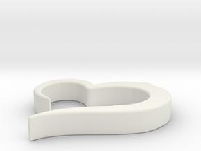 Heart_pendant in White Premium Versatile Plastic