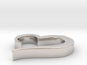 Heart_pendant in Platinum