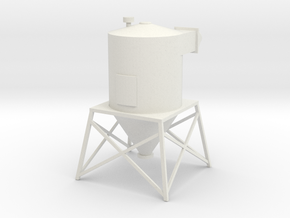 'HO Scale' - Rooftop Dust Filter in White Natural Versatile Plastic