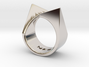 Ring - Kittii in Rhodium Plated Brass: 4 / 46.5